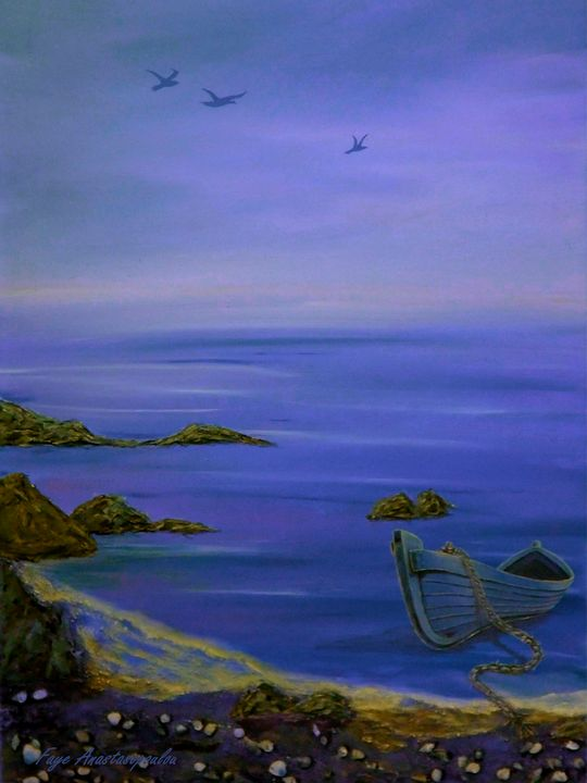Seaside Boat - Faye Anastasopoulou