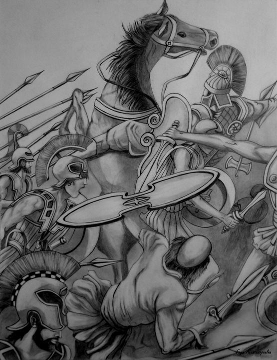Battle Scene - Faye Anastasopoulou