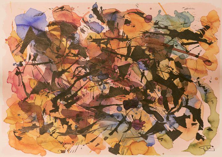 Composition Abstraite Encre - Thierry Daudier de Cassini