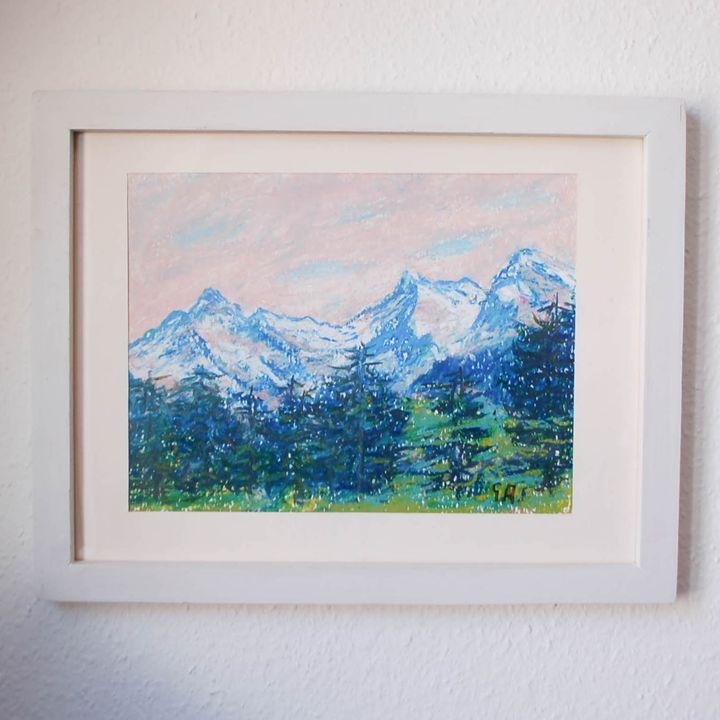 Glaciers Eiger, Mönch and Jungfrau - Georges Albert Froidevaux