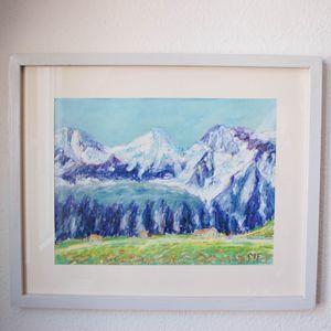 Swiss glacier Eiger, Mönch, Jungfrau