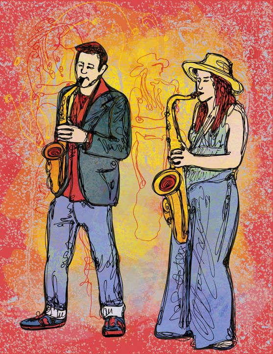 Two Saxophonists. Barcelona - Dea Lieotto