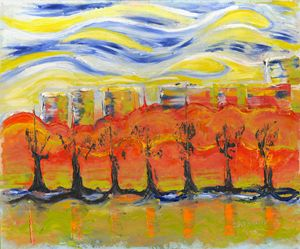 The trees in red. Day 28 March 2015,