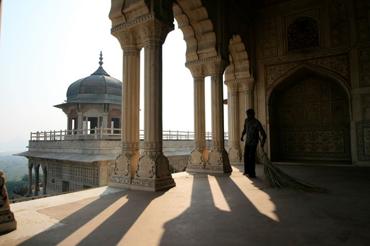 Janitor, Red Fort, India - Dano Vukicevich Photography