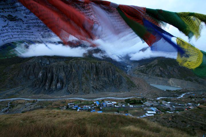 Prayers over Manang, Nepal - Beynsh Photography