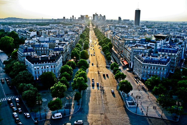 Dusk from the Arc du Triomphe - Beynsh Photography
