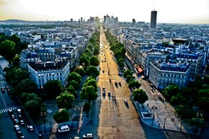 Dusk from the Arc du Triomphe