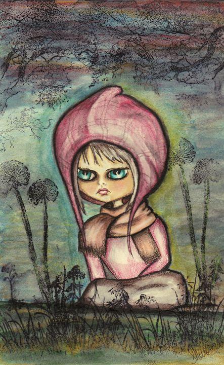 Big eyed girl - Sharon HArt Designs