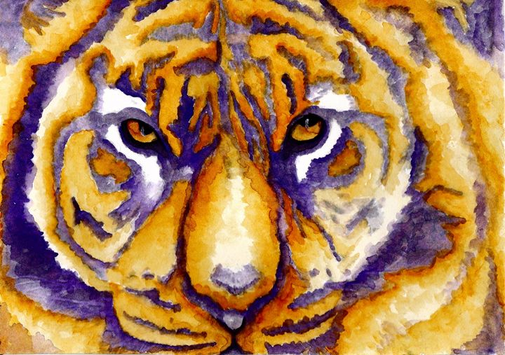 LSU Tiger - Sharon HArt Designs