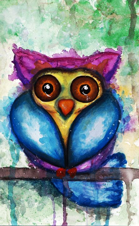 Watercolor Owl - Sharon HArt Designs