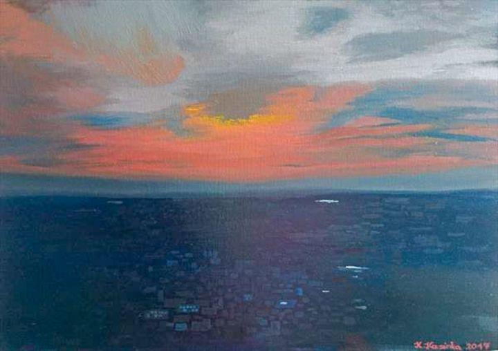 Sunset Over The City - Krisztina Kucsinka