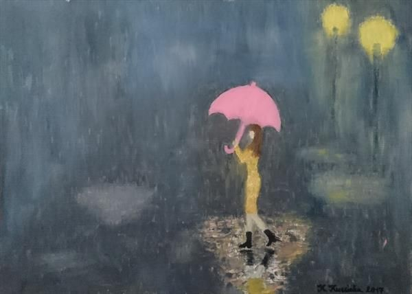 The Pink Umbrella - Krisztina Kucsinka