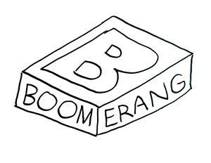 Boomerang logo by Hadley Rees