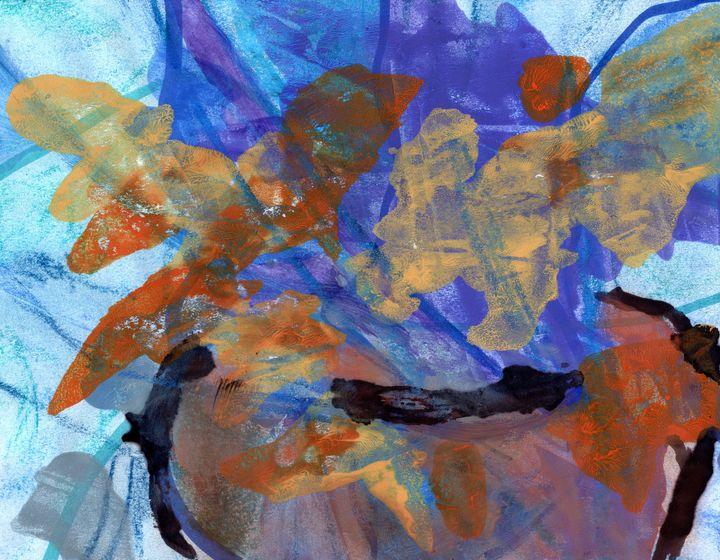 Bowl Of Flowers - David Jacobi