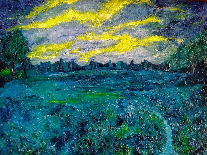 Evening landscape - Alexander Brisac
