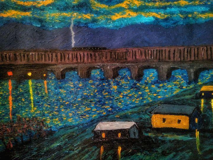 Night bridge expression - Alexander Brisac