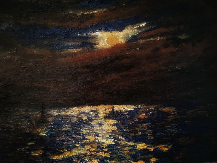 Moonlight on the sea - Alexander Brisac