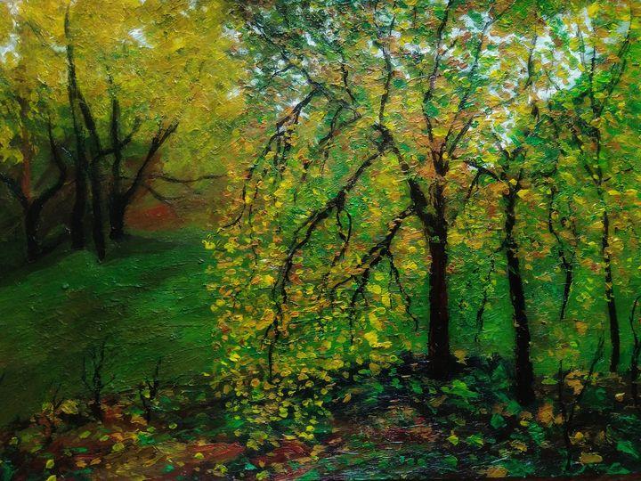 Autumn painting - Alexander Brisac
