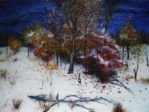 Winter art landscape painting