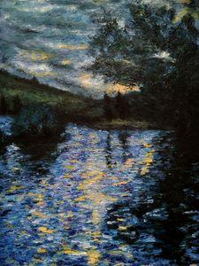 Impressionism fan art painting