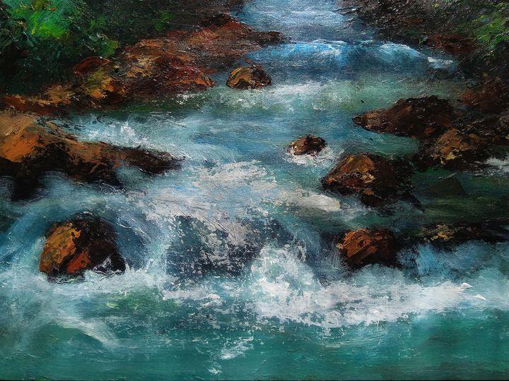Wild mountain river - Alexander Brisac