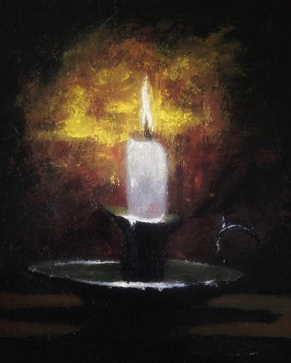 Burning candle - Alexander Brisac