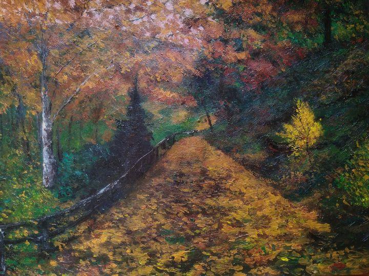 Autumn landscape - Alexander Brisac