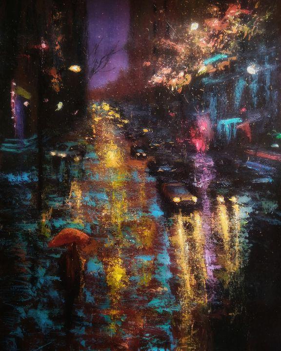 Rainy night city - Alexander Brisac