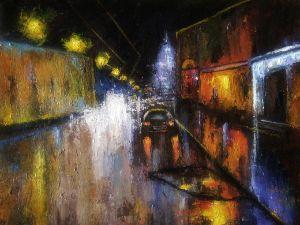 Impression, night street