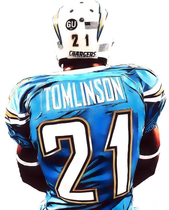 Ladainian Tomlinson San Diego Charge - Joe Hamilton Sports Art