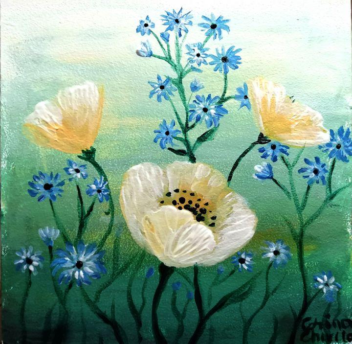 White poppies - CORinAZONe
