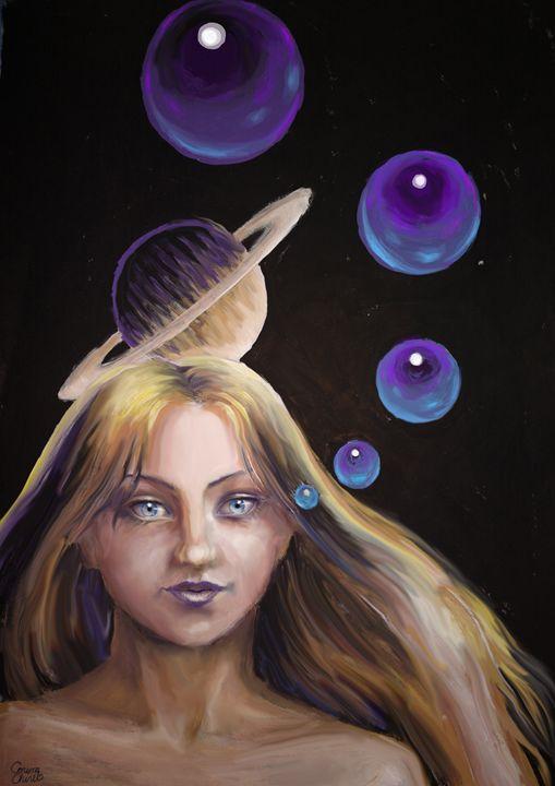 Woman with spheres - CORinAZONe