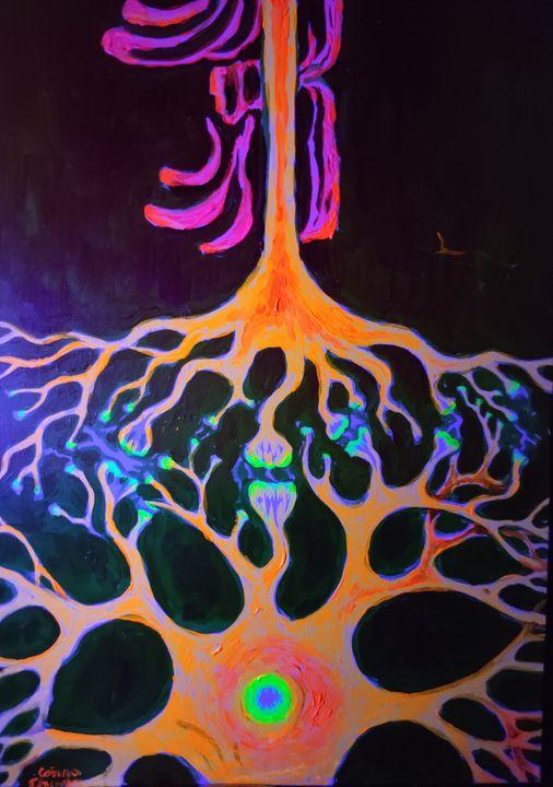 Synapses fluorescent painting - CORinAZONe