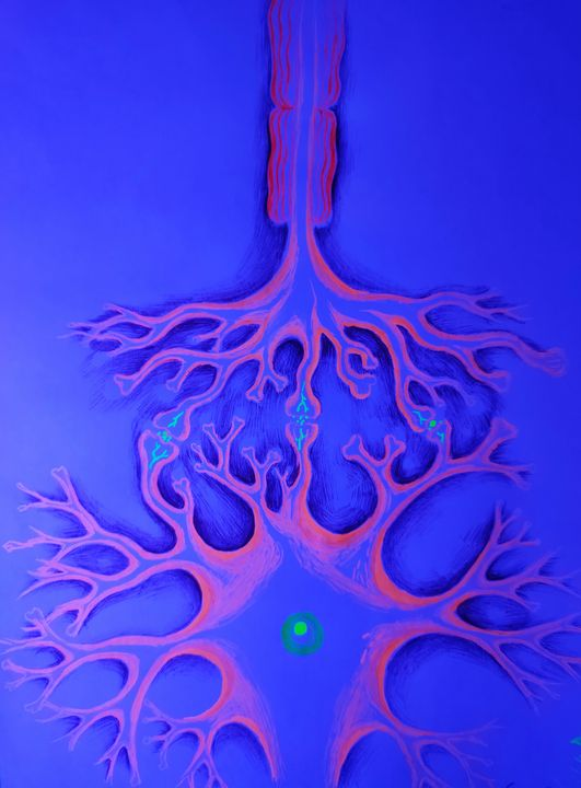 Synapses fluorescent drawing - CORinAZONe