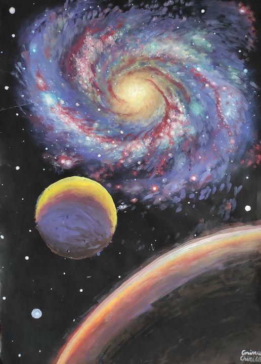 Galaxy and planets - CORinAZONe