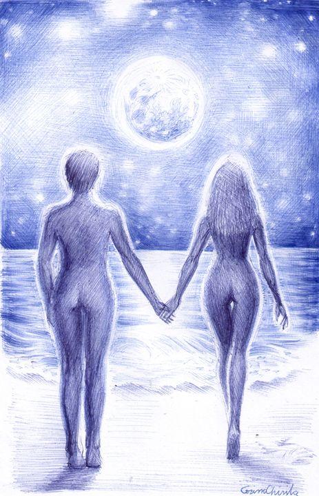Lovers in the moonlight - CORinAZONe