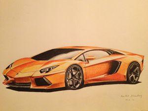 Lamborghini Aventador - Automotive Art