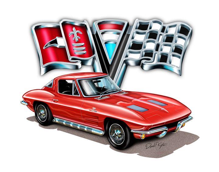 1963 Vette Red - David F Kyte