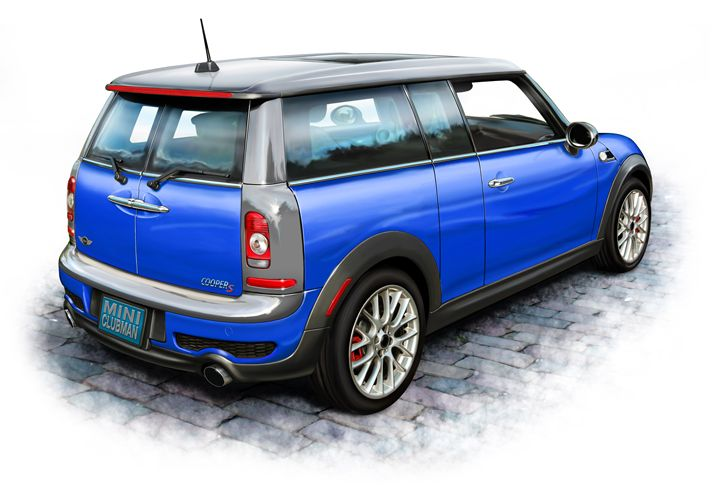 Mini Cooper Clubman Blue - David F Kyte