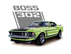 Mustang Boss 302 Grabber Green