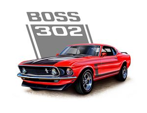 Mustang Boss 302 Red