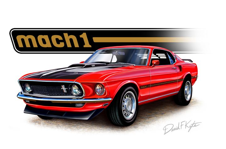 Mustang Mach 1 Red - David F Kyte