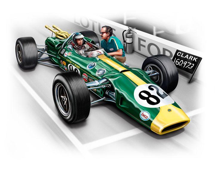 Lotus 38 Indy 1965 winner - David F Kyte