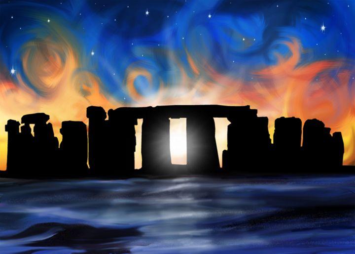 Stonehenge Sun Rise - David F Kyte