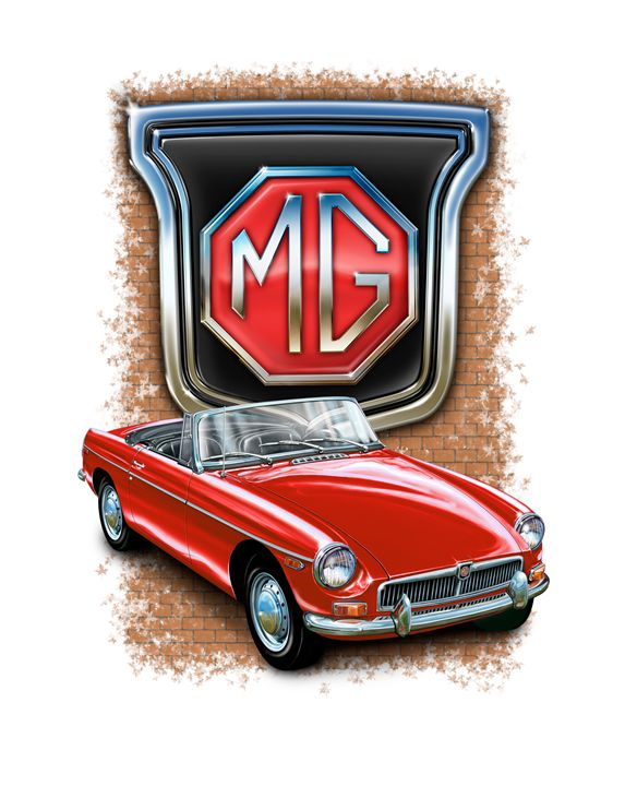 MGB Red - David F Kyte
