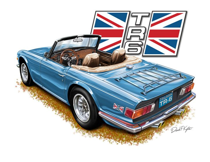 Triumph TR-6 Blue Tan - David F Kyte