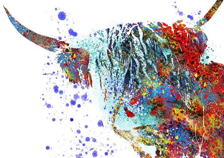 Highland cow - Rosalia.art