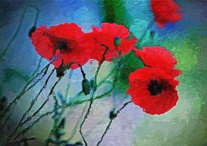 Poppy, red poppy, poppy art - Rosalia.art