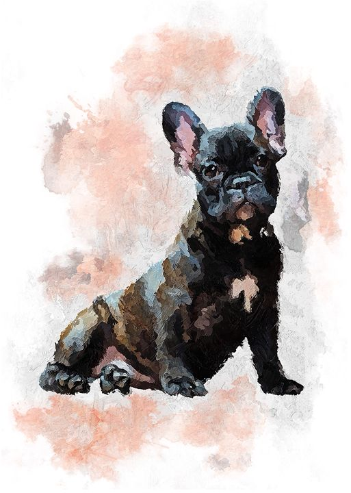 French Bulldog, Frenchie - Rosalia.art