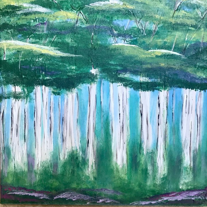 Trees - Blue Oakley Art